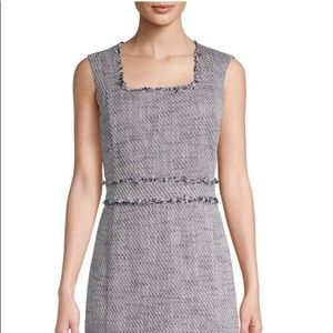 Karl Lagerfeld Fringe Tweed Pencil Dress